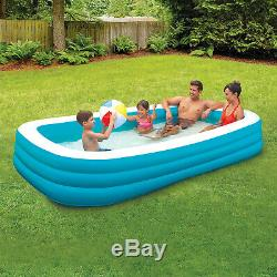 10' Ft Inflatable Kids Family Swimming Pool Backyard Outdoor Center Water Play