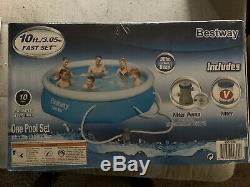 10' x 30 Backyard Above Ground Inflatable Pool withFull Setup Pump Pool & Filter