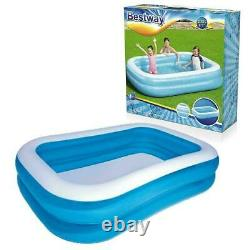 103 Large Deluxe Rectangular Inflatable Paddling Garden Swimming Pool Bestway