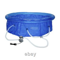 10FT New Inflatable Swimming Pool Above Ground Backyard Portable + Filter Pump F
