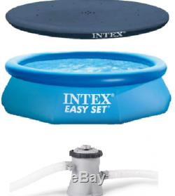 12ftx30in Intex Easy Set Swimming Above Ground Inflatable Pool Filter+Pump+Cover