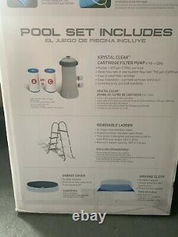 15 FT, Intex Inflatable Above Ground Swimming Pool with Ladder, Brand New