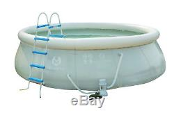 15'x 48 Above Ground Family Swimming Pool Inflatable Fast Set with Pump Ladder