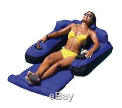 2 New Swimline 9047 Swimming Pool Fabric Inflatable Ultimate Floating Loungers