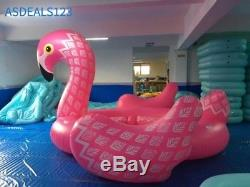 2018 New Summer 6 Person Huge inflatable Pool Float Giant Floating Flamingo Swim
