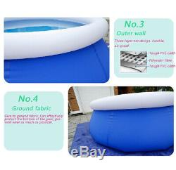24063cm 8ft Summer Portable Outdoor Inflatable Swimming Pool Water Sports Adult