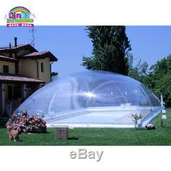 29x16x8Ft Inflatable Hot Tub Swimming Pool Solar Dome Cover Tent With PUMP