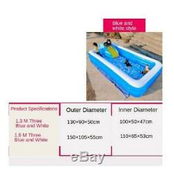 2pcs Outdoor Inflatable Pool Swimming Pool with foot pump for Adult Terraces