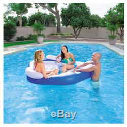 3-Person Inflatable Floating Island Lounge Raft Swimming Pool Party River Lake