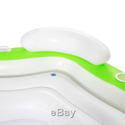 3 Seater Inflatable Bestway Island Lounger Ring Swimming Pool Lilo Floating Bed