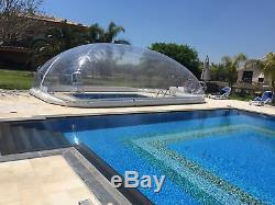 39x19x10Ft Inflatable Hot Tub Swimming Pool Solar Dome Cover Tent