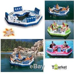 4-Person Inflatable Float Raft Intex Water Pool Gaint River