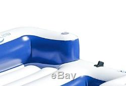 5 Person Inflatable Party Island Floating River Lake Beach Pool Water Raft Loung