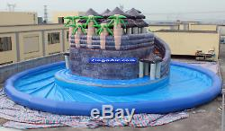 50x50x55 Commercial Inflatable Water Park Pool Swim Slide Obstacle Course Bounce