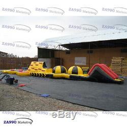 6.6x49ft Inflatable Double Trouble Course Obstacle Slide For Swimming Pool