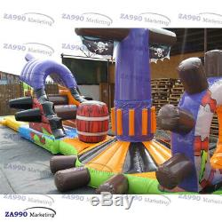 6.6x49ft Inflatable Pirates Double Trouble Slide For Pool With Air Blower