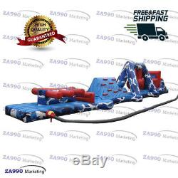 6.6x49x6.6ft Inflatable Double Trouble Course Obstacle Slide For A Swimming Pool