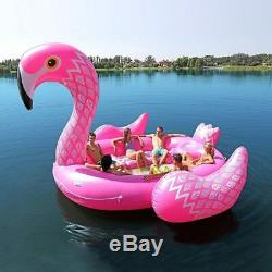 6-8 Person Huge Inflatable Giant Floating Flamingo for Pool Float Lake Sea Party
