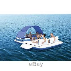 6 Person Floating Island Pool Lake Raft Lounge Airblown Water Inflatable Toy