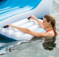 6 Person Floats For Adults Lake Loungers Pool Water Rafts Big Inflatable Island