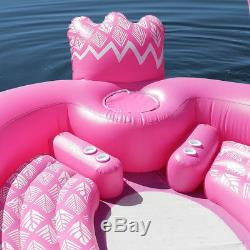 6 Person Huge inflatable Boat Pool Float Giant Inflatable Flamingo Swimming Pool
