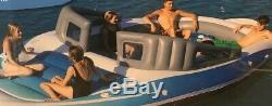 6-Person Inflatable Bay Breeze Boat Island Party Island Yacht Beach Pool Lake