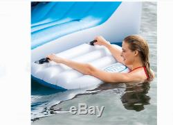 6 Person Large Inflatable Floating Island With Cooler Lounge Lake Party Pool Raft