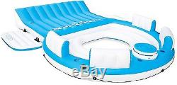 7 People Inflatable Raft Pool Island Lounge Floating Swimming River Lake Water
