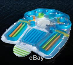 7-Person Fun Lake Pool Mega-Size Inflatable Party Floating Island Raft Oasis