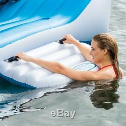 7 Person Large Inflatable Floating Island With Cooler Lounge Lake Party Pool Raft