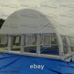 82x39ft Inflatable Cover For Swimming Pool Transparent Dome Tent With Air Blower