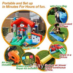 ACTION AIR Bounce House, Air Bouncer with 30 Ball, Inflatable Bouncer with Air