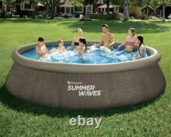 Above Ground SUMMER WAVES 14 x 36 Quick Set Inflatable Pool FREE SHIPPING