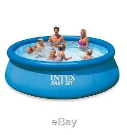 Above Ground Swimming Pool Intex 12ft X 30in Inflatable Round Summer Family FUN