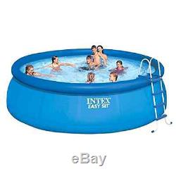 Above Ground Swimming Pool Intex 15ft X 48in Inflatable Round Summer Family FUN