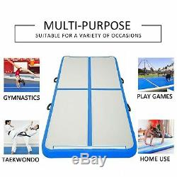 Air Track Gymnastic Tumbling 10FT Blue Inflatable Mat Outdoor Pool Floor