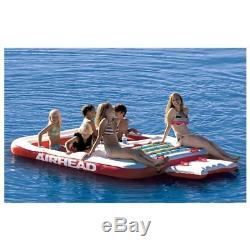 Airhead Cool Island 6 Person Inflatable Lounger Float Pool Lake Large Floating