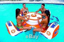 BEST Party Inflatable Floating Island With Cooler Cup Holder for Adult Lake Pool