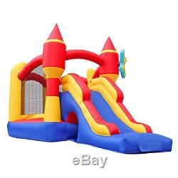 BESTPARTY Inflatable Bounce House Castle Inflatable Jumper Slide Spinning Bouncy