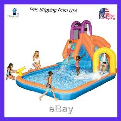 Banzai Falls Sidewinder Inflatable Outdoor Inflatable Kids Water Park with Slide