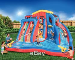 Banzai Giant Hydro Blast Inflatable Water Park Basketball Kids Cannons Slide Fun