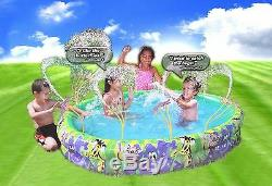 Banzai Jungle Fun Inflatable Spray N Splash Pool with Sprinklers For Ages 3+