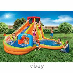 Banzai Lazy River Inflatable Outdoor Adventure Water Park Slide (For Parts)