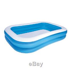 Bestway 103 x 69 x 20 Inflatable Rectangular Family Pool Blue