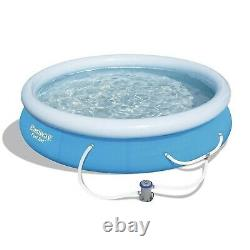 Bestway 12' x 30 Fast Set Inflatable Above Ground Swimming Pool with Filter Pump