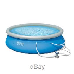 Bestway 12 x 36 Fast Set Inflatable Pool Set Swimming Above Ground Pump Backyard