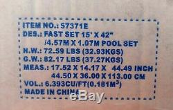Bestway 15' 42 Fast Set Easy Inflatable Swimming Pool Ladder Cover Pump Filter
