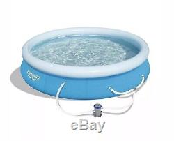 Bestway 15' x 33 Fast Set Inflatable Above Ground Swimming Pool Summer Waves