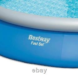 Bestway 15'x33 Inflatable Above Ground Pool with 330 GPH Filter Pump (Used)