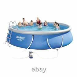 Bestway 18' x 48 Fast Set Inflatable Round Swimming Pool with Filter Pump New